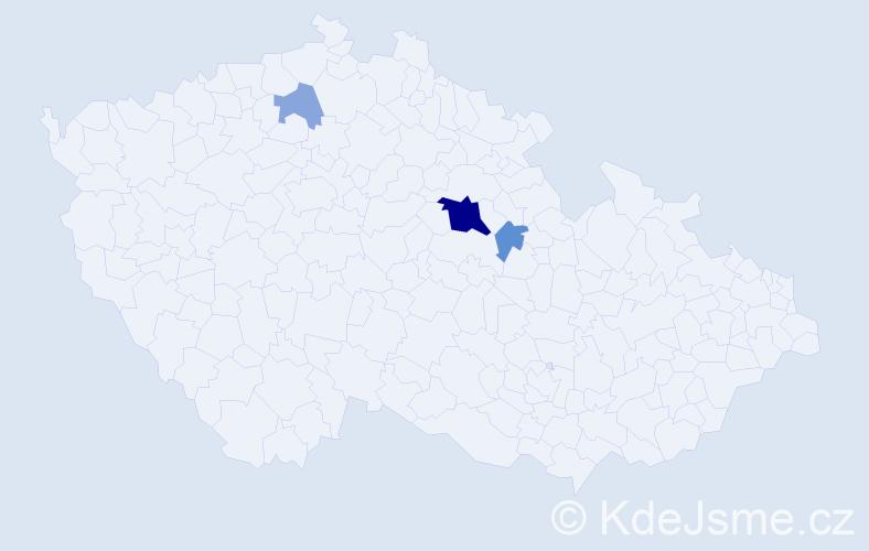 Příjmení: 'Cupas', počet výskytů 9 v celé ČR