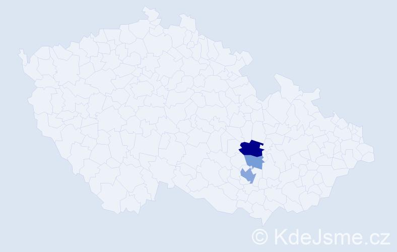 Příjmení: 'Braunschlägerová', počet výskytů 7 v celé ČR