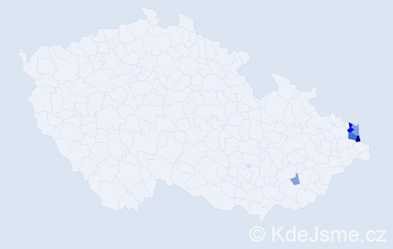 Příjmení: 'Kruczek', počet výskytů 15 v celé ČR