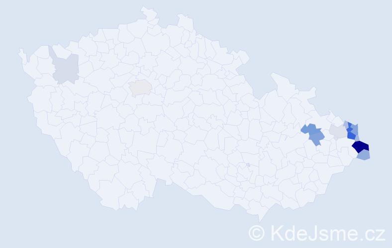 Příjmení: 'Banot', počet výskytů 45 v celé ČR