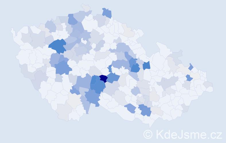 Příjmení: 'Loskot', počet výskytů 489 v celé ČR