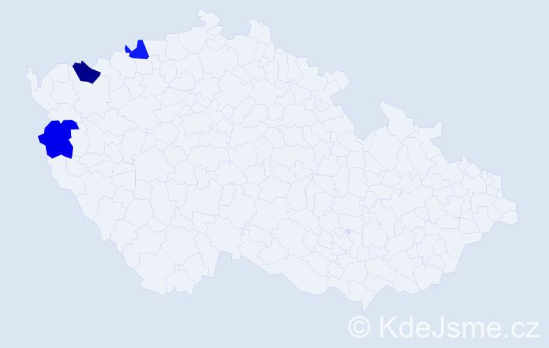Příjmení: 'Lempelová', počet výskytů 3 v celé ČR