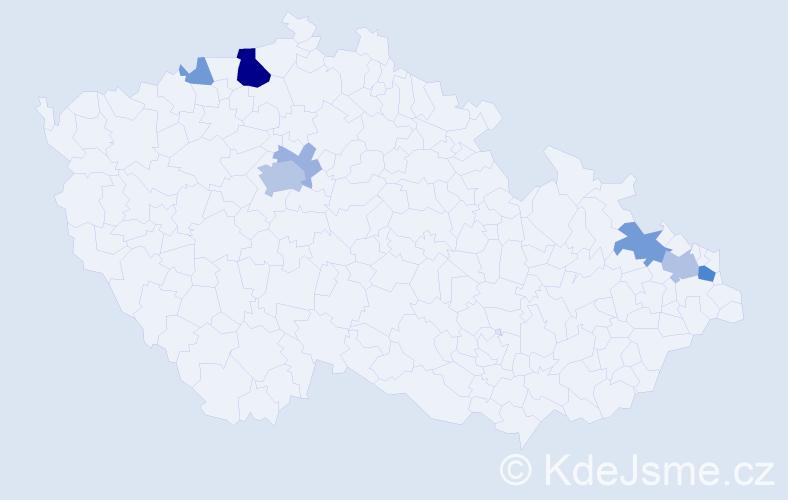 Příjmení: 'Labuzík', počet výskytů 22 v celé ČR