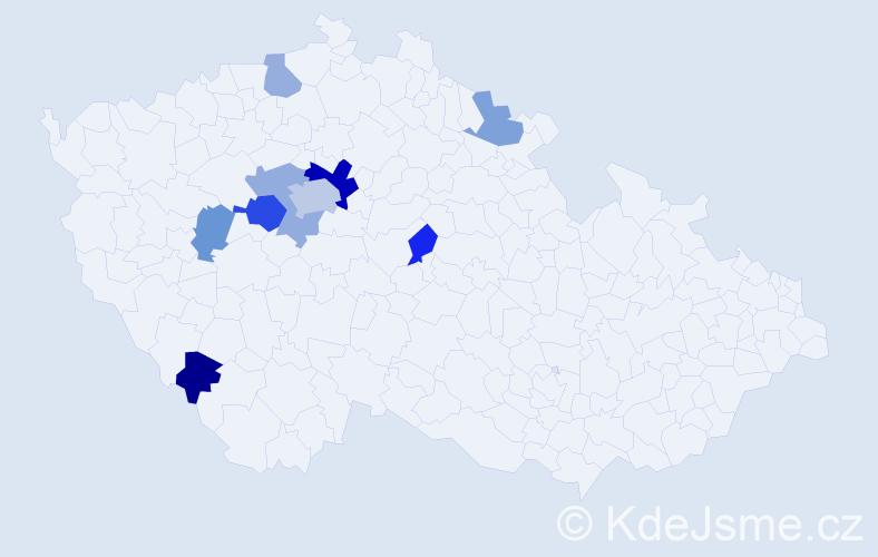 Příjmení: 'Höhne', počet výskytů 17 v celé ČR