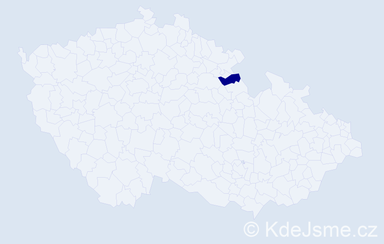 """Příjmení: '""""Ehl Balcarová""""', počet výskytů 1 v celé ČR"""