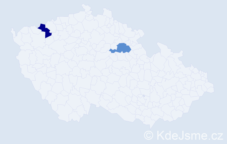 Příjmení: 'Eperješi', počet výskytů 4 v celé ČR