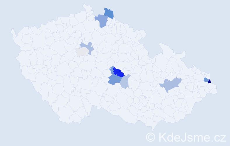 Příjmení: 'Dolní', počet výskytů 31 v celé ČR