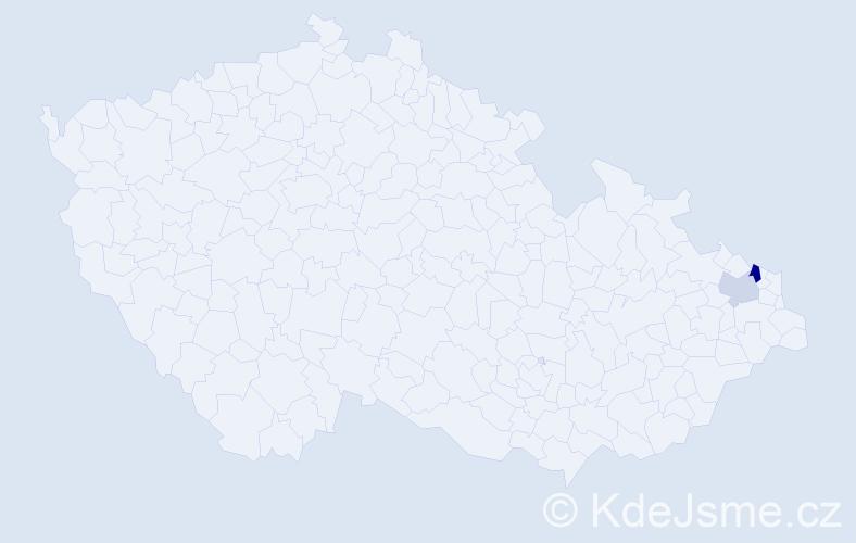 Příjmení: 'Knura', počet výskytů 3 v celé ČR