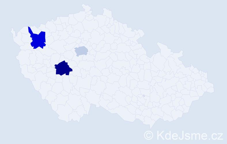 Příjmení: 'Imondi', počet výskytů 3 v celé ČR