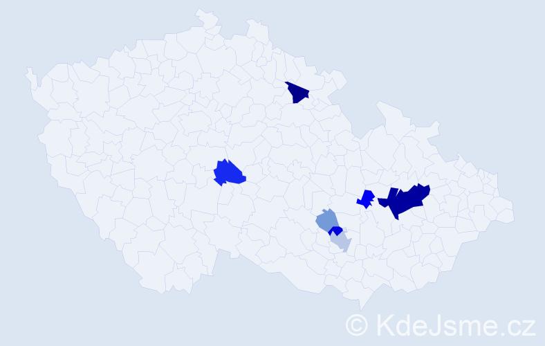 Příjmení: 'Kirschbaum', počet výskytů 24 v celé ČR