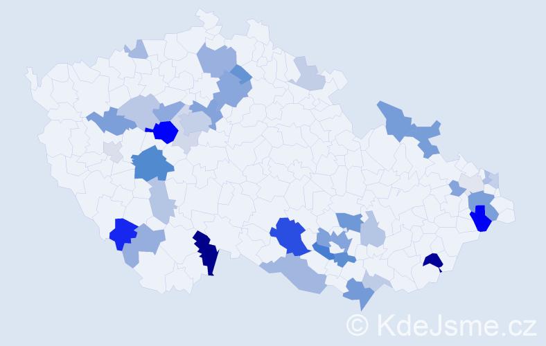 Příjmení: 'Hercová', počet výskytů 97 v celé ČR