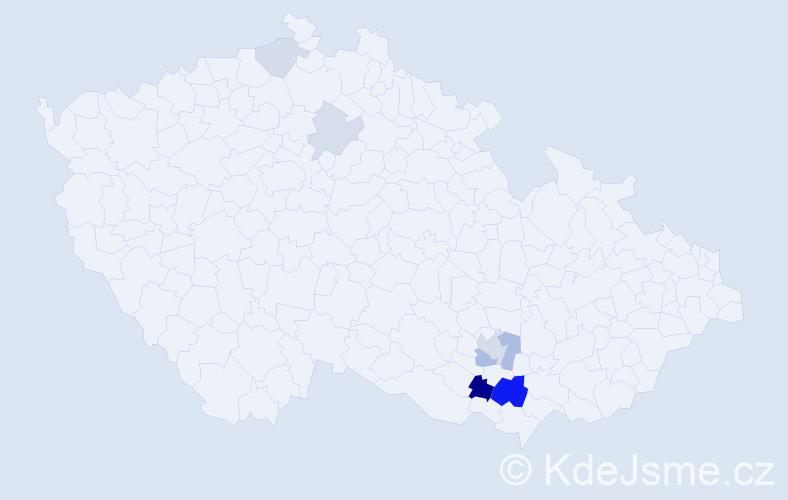Příjmení: 'Holcapflová', počet výskytů 16 v celé ČR