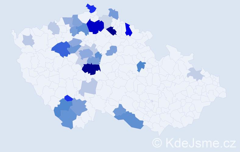 Příjmení: 'Jenšovská', počet výskytů 88 v celé ČR
