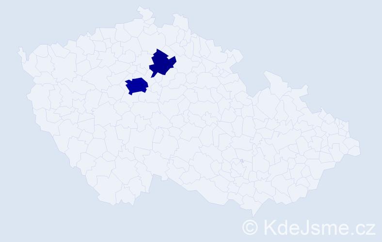 Příjmení: 'Koleška', počet výskytů 17 v celé ČR