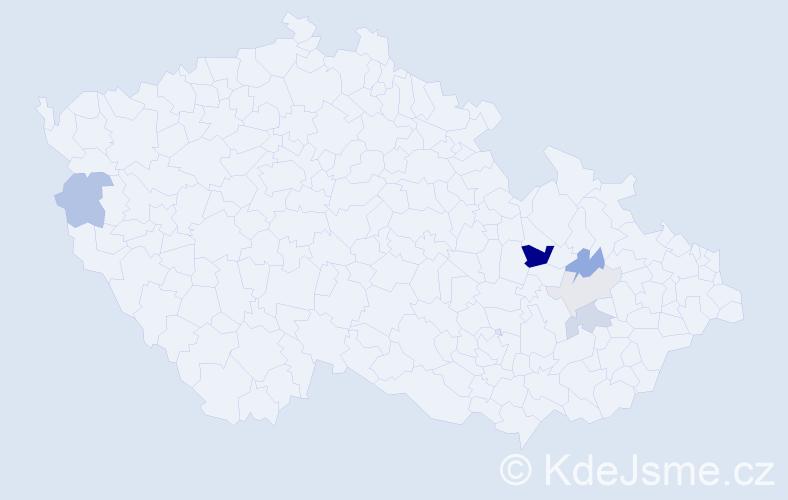 Příjmení: 'Kilkovský', počet výskytů 15 v celé ČR