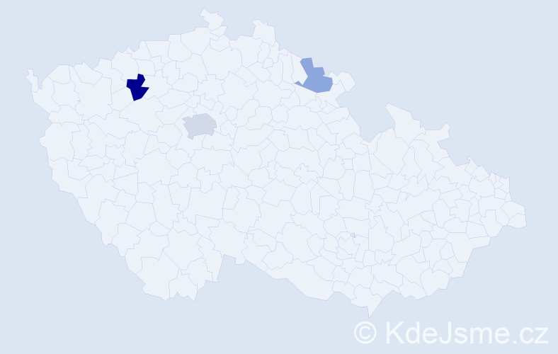 Příjmení: 'Bayo', počet výskytů 6 v celé ČR