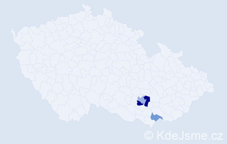 Příjmení: 'Hybká', počet výskytů 6 v celé ČR