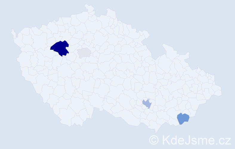 Příjmení: 'Ehrenreich', počet výskytů 7 v celé ČR