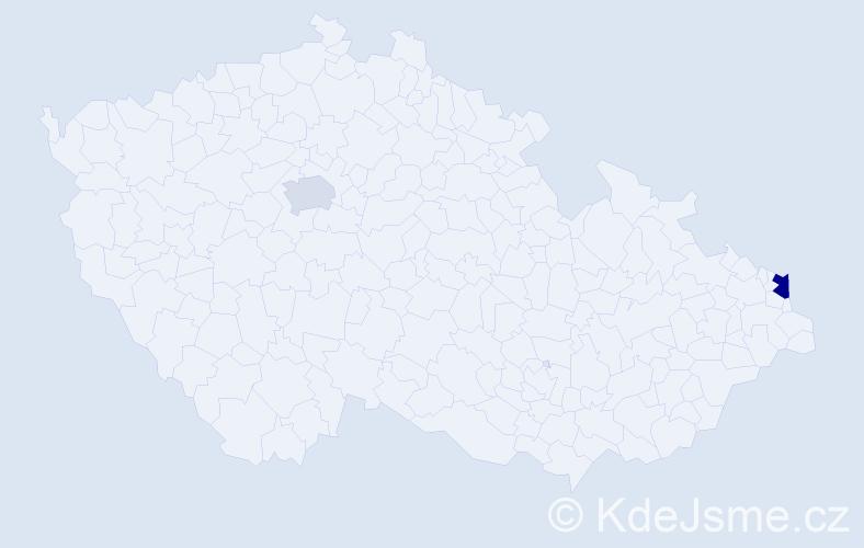 Příjmení: 'Gondorová', počet výskytů 3 v celé ČR