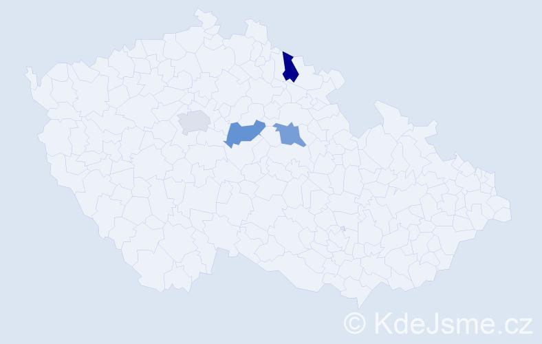 Příjmení: 'Graulová', počet výskytů 4 v celé ČR