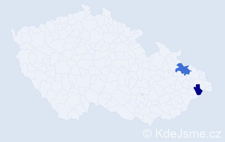 Příjmení: 'Eschinger', počet výskytů 3 v celé ČR
