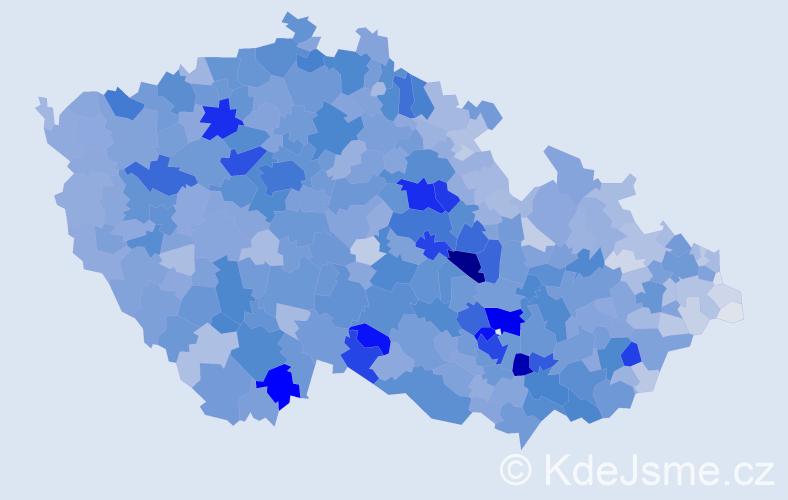 Příjmení: 'Kučerová', počet výskytů 15734 v celé ČR