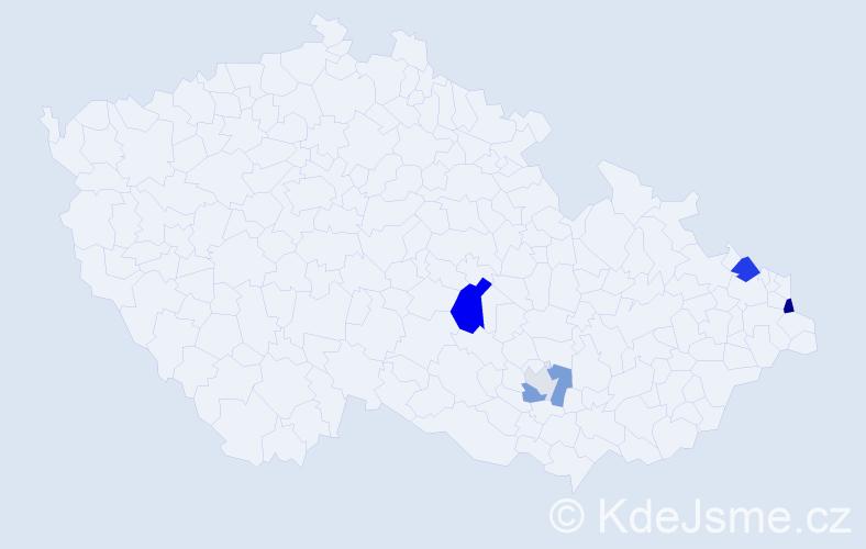 Příjmení: 'Haiduk', počet výskytů 13 v celé ČR