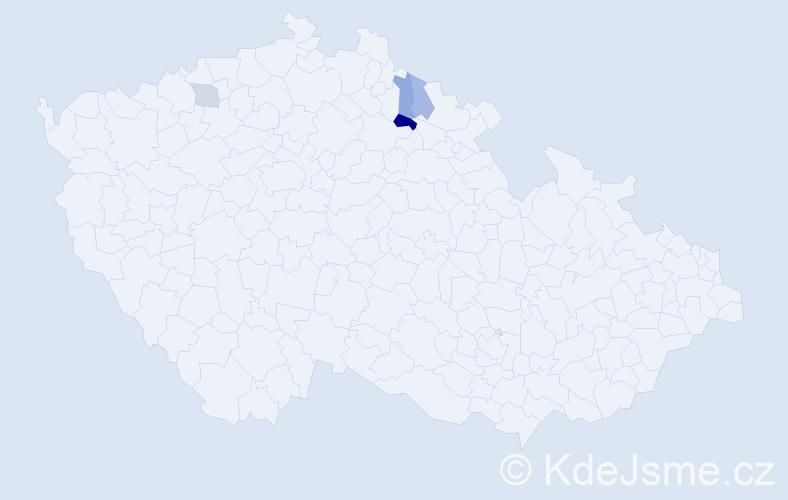 Příjmení: 'Kobrýn', počet výskytů 6 v celé ČR