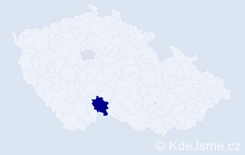 Příjmení: 'Ayrer', počet výskytů 8 v celé ČR