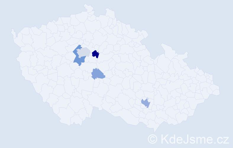 Příjmení: 'Baierle', počet výskytů 22 v celé ČR