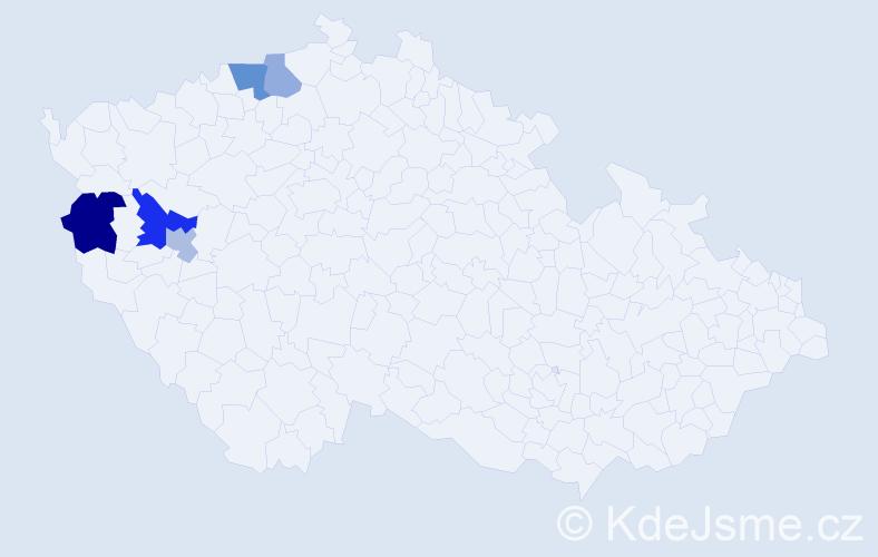 Příjmení: 'Dienstpierová', počet výskytů 8 v celé ČR