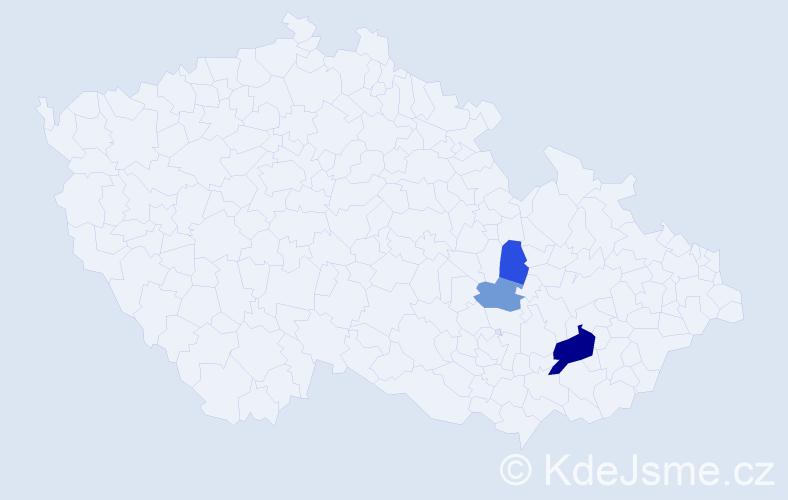 Příjmení: 'Kyrcz', počet výskytů 6 v celé ČR