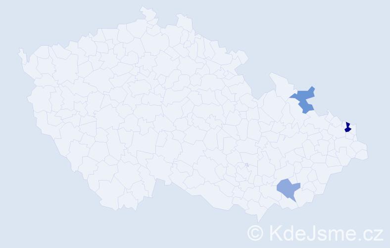Příjmení: 'Escherová', počet výskytů 5 v celé ČR