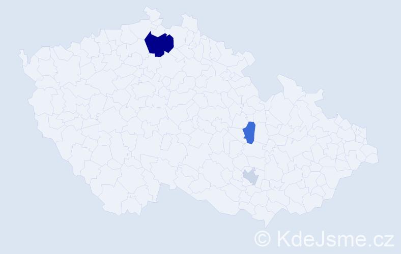 Příjmení: 'Krajčirík', počet výskytů 6 v celé ČR