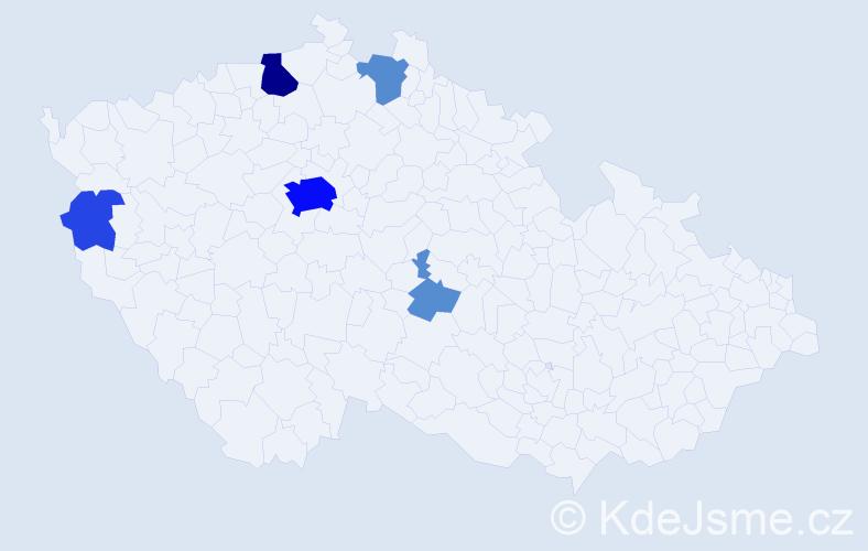 Příjmení: 'Eislerová', počet výskytů 30 v celé ČR