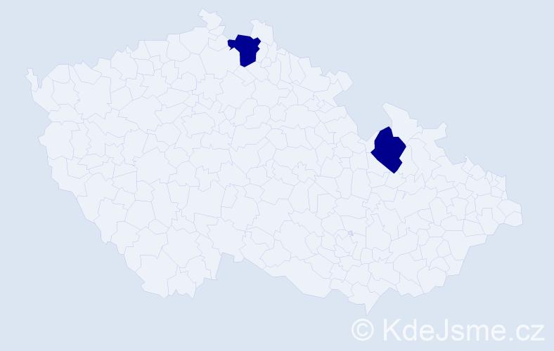 Příjmení: 'Bitterlichová', počet výskytů 5 v celé ČR