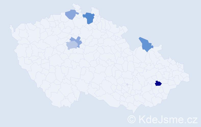Příjmení: 'Fall', počet výskytů 12 v celé ČR
