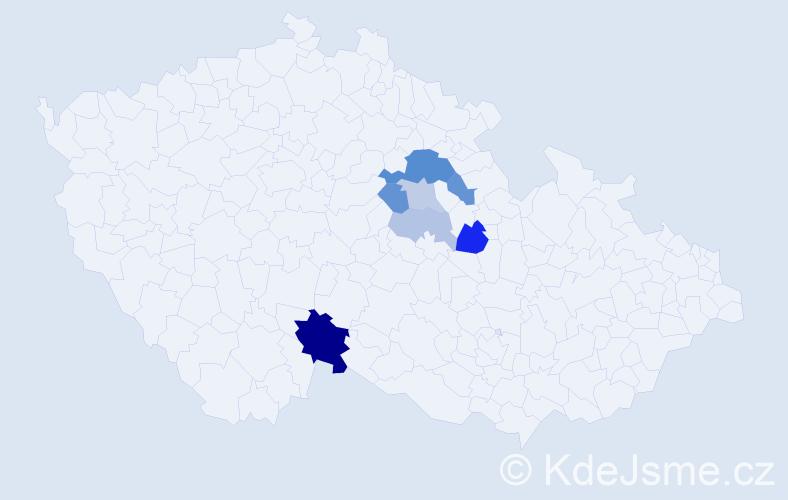 Příjmení: 'Andrusivová', počet výskytů 16 v celé ČR