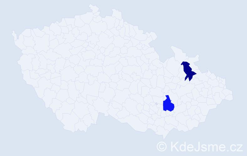 Příjmení: 'Boronkaj', počet výskytů 4 v celé ČR