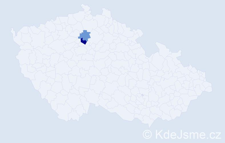 Příjmení: 'Légrová', počet výskytů 3 v celé ČR