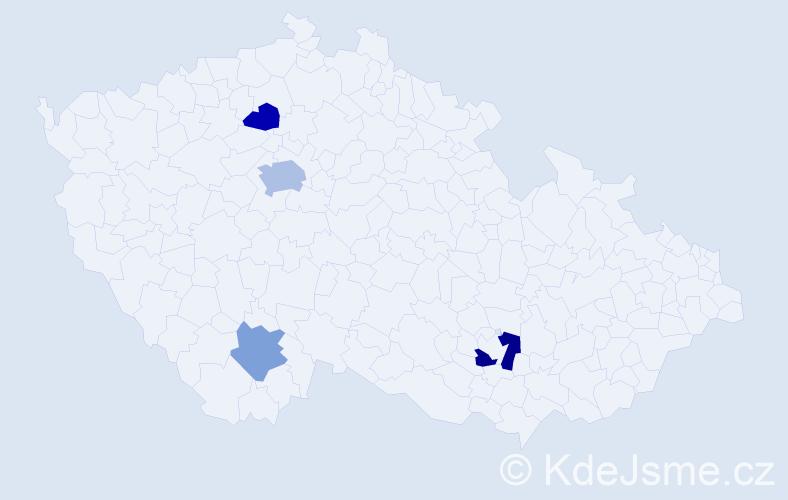Příjmení: 'Člaňková', počet výskytů 7 v celé ČR
