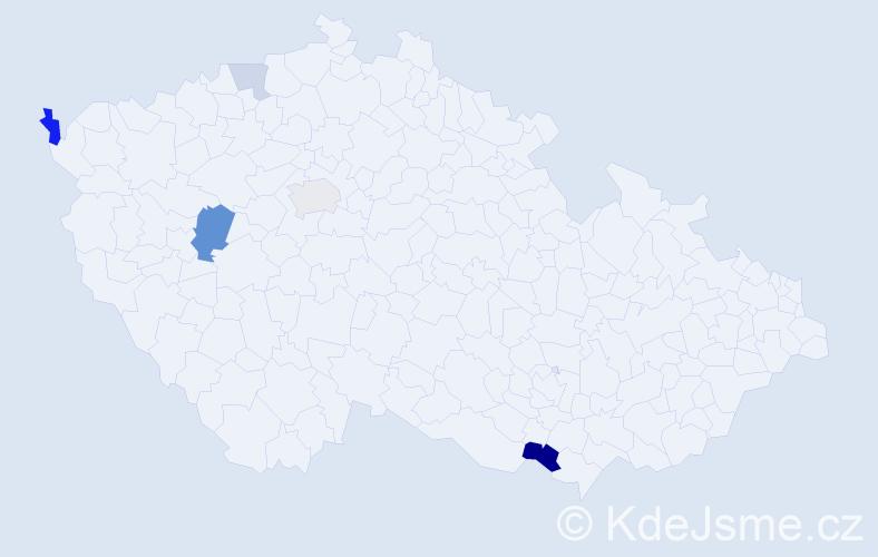 Příjmení: 'Lambotová', počet výskytů 11 v celé ČR