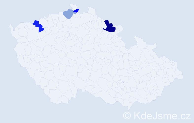 Příjmení: 'Eibinová', počet výskytů 8 v celé ČR