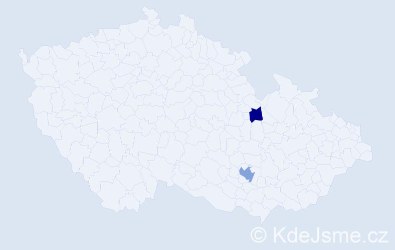 Příjmení: 'Jačisko', počet výskytů 7 v celé ČR