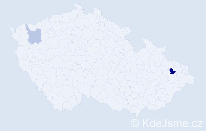 Příjmení: 'Eckelsberger', počet výskytů 4 v celé ČR