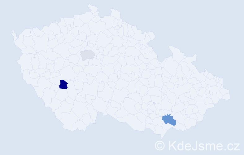 Příjmení: 'Eiflerová', počet výskytů 9 v celé ČR