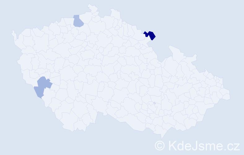 Příjmení: 'Brause', počet výskytů 9 v celé ČR