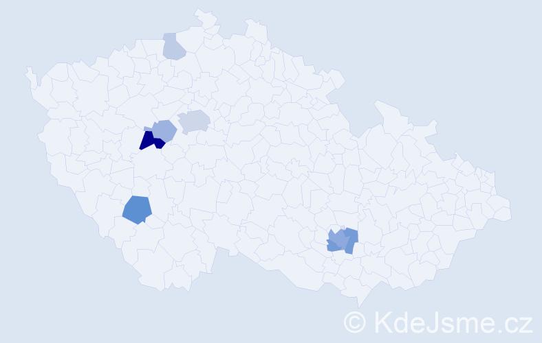 Příjmení: 'Kebertová', počet výskytů 19 v celé ČR