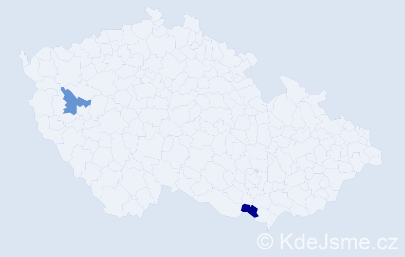 Příjmení: 'Demitrová', počet výskytů 2 v celé ČR