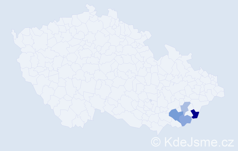 Příjmení: 'Lukáštík', počet výskytů 6 v celé ČR